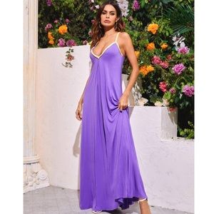 Shein purple maxi dress with braided straps